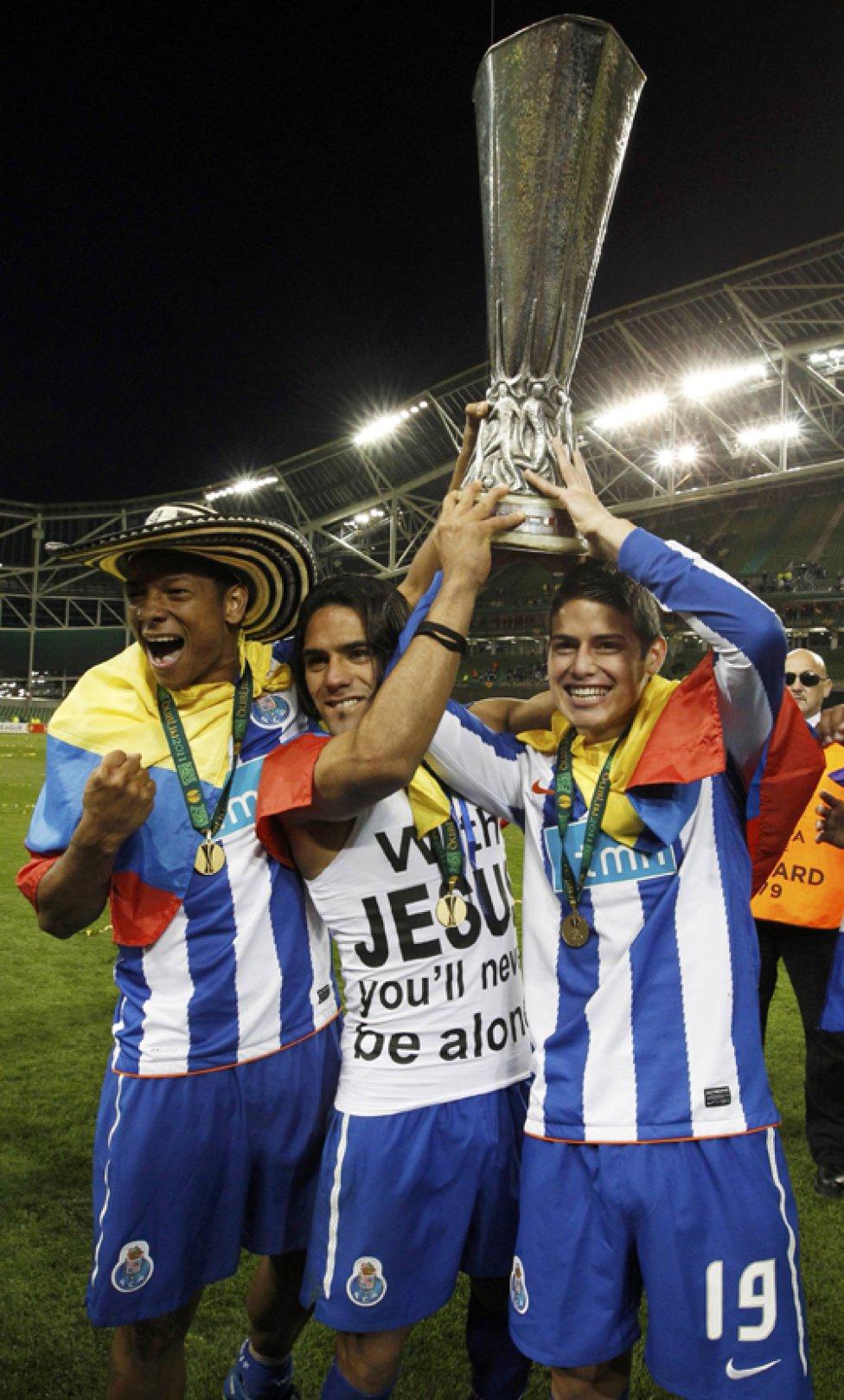 Guarín, Falcao y James