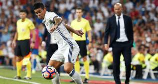 James muestra sacrificio en el Real Madrid