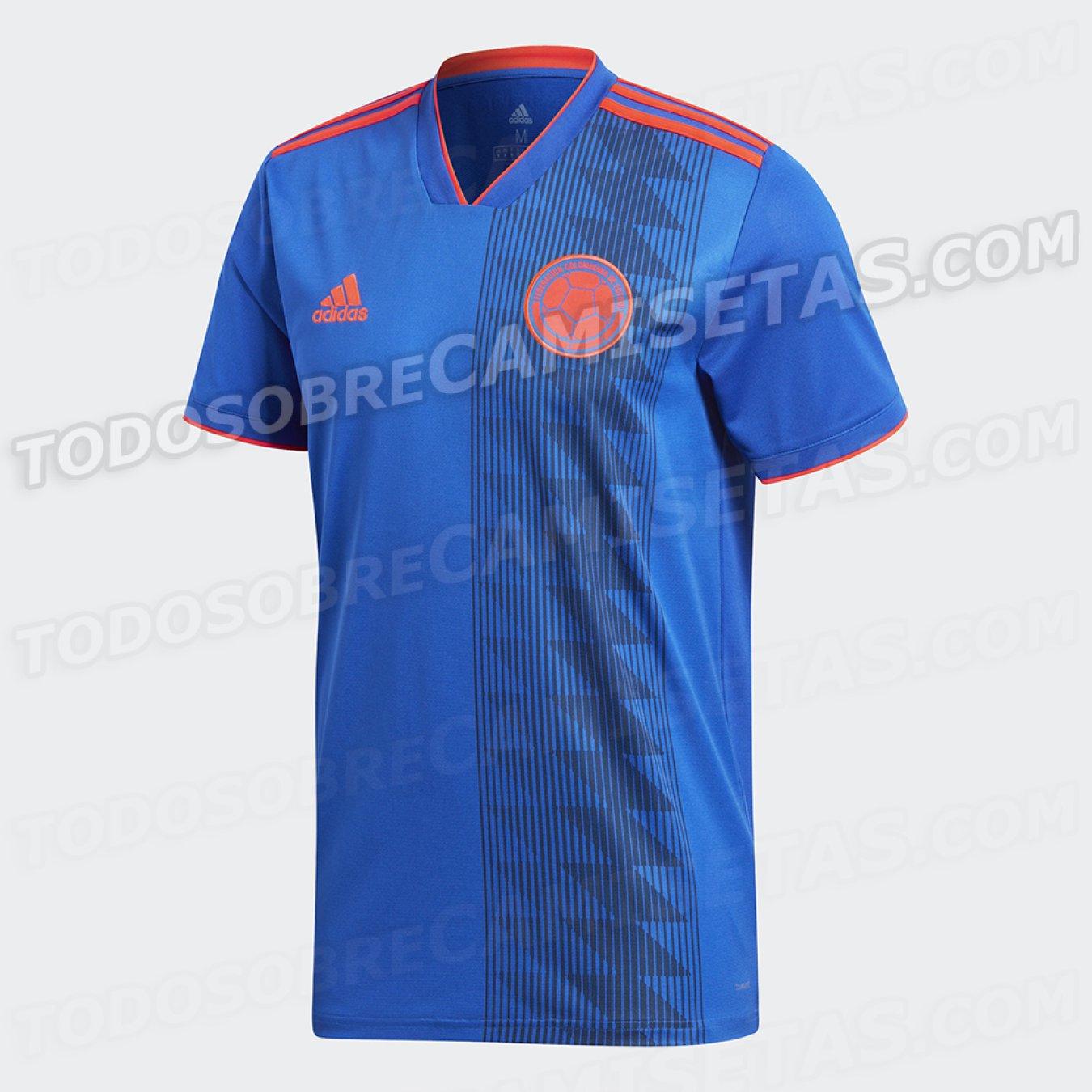Selección Colombia. El cuello de la camiseta ... 77f34ae5c42cb