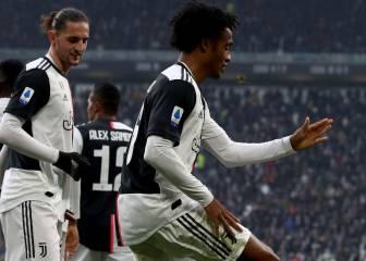 El récord que alcanza Cuadrado con su gol a Brescia